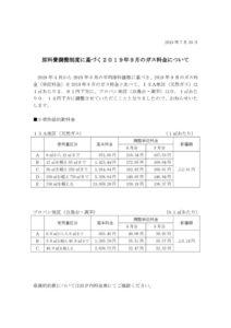 原料費調整制度に基づく2019年9月のガス料金についてのサムネイル