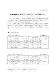 原料費調整制度に基づく2020年12月のガス料金についてのサムネイル