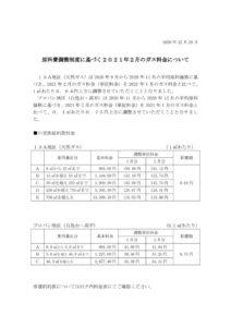 原料費調整制度に基づく2021年2月のガス料金についてのサムネイル