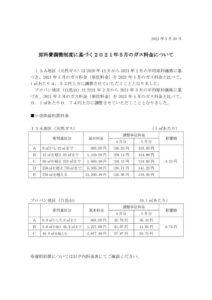 原料費調整制度に基づく2021年5月のガス料金についてのサムネイル