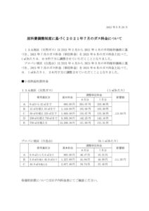 原料費調整制度に基づく2021年7月のガス料金についてのサムネイル